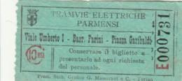 BIGLIETTO TRAMVIE ELETTRICHE PARMENSI C.10 (BY425 - Busse
