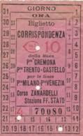 BIGLIETTO BUS BRESCIA - DI CORRISPONDENZA C.10 (BY427 - Busse