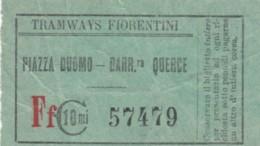 BIGLIETTO TRAMWAYS FIORENTINI C.10 (BY429 - Europa