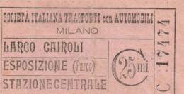 BIGLITTO SOC. ITALIANA TRASPORTI MILANO C.25 (BY430 - Europa