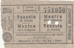 BIGLIETTO VENEZIA MESTRE (BY469 - Busse