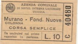 BIGLIETTO MURANO L.10 (BY489 - Busse
