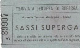 BIGLIETTO TRANVIA A DENTIERA DI SUPERGA (BY496 - Busse