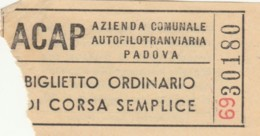 BIGLIETTO BUS PADOVA ACAP (BY502 - Busse