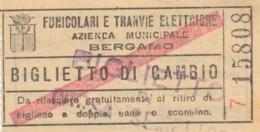 BIGLIETTO TRANVIE ELETTRICHE BERGAMO (BY505 - Busse