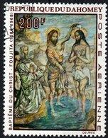 DAHOMEY, POSTA AEREA, AIRMAIL, BATTESIMO, 1968, 200 F., FRANCOBOLLO USATO Mi:DY 367, Scott:DY C92, Yt:DY PA96 - Benin – Dahomey (1960-...)