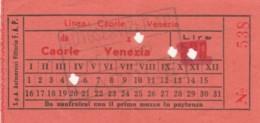 BIGLIETTO BUS CAORLE VENEZIA (BY571 - Bus