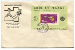 SPACE IMPERFORATED PARAGUAY GOOD SHEET COVER FDC # 6352 150120I - Paraguay