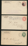 USA Sammlung Von 9 Ganzsachen Dabei 2x Nach Hongkong Lot Of 9 Postal Stationery  - United States
