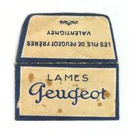 Lame De Rasoir Française PEUGEOT - French Safety Razor Blade Wrapper + Blade - Lames De Rasoir