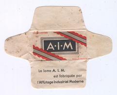 Lame De Rasoir Française AIM- French Safety Razor Blade Wrapper + Blade - Lames De Rasoir