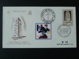 FDC Vignette Jean Moulin De Gaulle Résistance Glières Thones 74 Haute Savoie 1963 - 2. Weltkrieg