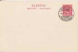 Entier Neuf Du Schlechwig-Holstein 10pf Rouge (Plebiscit Slesvig) Obl. Neukirche *(Schleswig)* Le 14/3/20 Date Du Plébi - Sectores De Coordinación