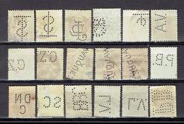 203 P1 -  Classique Et Autres Différents Perforierte - Geperforeerde - Perforés - Perfin - Belgique - 1863-09