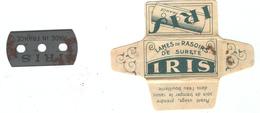 Lame De Rasoir Française IRIS - French Safety Razor Blade Wrapper + Blade - Lames De Rasoir