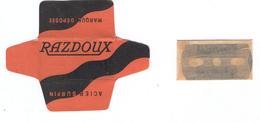 Lame De Rasoir Française RAZDOUX - French Safety Razor Blade Wrapper + Blade - Lames De Rasoir