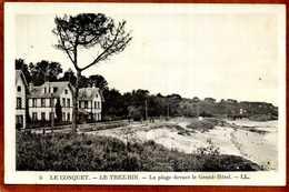 29   CPA  LE CONQUET   -  LE TREZ-HIR   La Plage Devant Le Grand-Hôtel   Très Bon état - Le Conquet