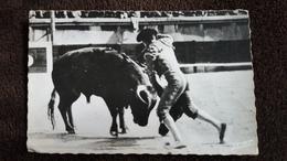 CPSM CORRIDA DE TOROS UNE ENTREE A MATAR TAUREAU TOREADOR MAR 1951 - Stierkampf