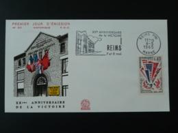 FDC Victoire 1945 Flamme Concordante Reims 51 Marne 1965 - Guerre Mondiale (Seconde)