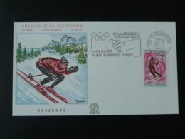 FDC Illustrée Decaris Jeux Olympiques Olympic Games Ski Flamme Concordante Chamrousse 38 Isère 1968 - Winter 1968: Grenoble