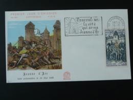 FDC Jeanne D'Arc Medieval Flamme Concordante Vaucouleurs 55 Meuse 1968 - Berühmt Frauen