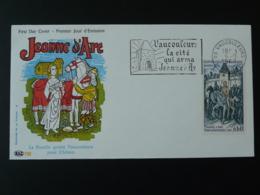 FDC ROC Jeanne D'Arc Medieval Flamme Concordante Vaucouleurs 55 Meuse 1968 - Berühmt Frauen