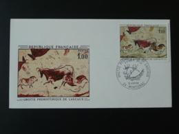 FDC Grottes Préhistoriques Rupestral Art Lascaux Montignac 24 Dordogne 1968 - Préhistoire
