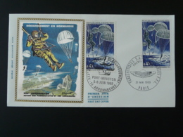 FDC Débarquement Commandos Parachutistes Parachute Ww2 Arromanches 14 Calvados 1969 - WW2 (II Guerra Mundial)
