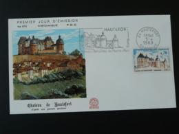 FDC Chateau Castle Flamme Concordante Hautefort 24 Dordogne 1969 - Castillos