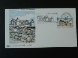 FDC Roc Chateau Castle Flamme Concordante Hautefort 24 Dordogne 1969 - Castillos