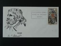 FDC Gravure Burin D'Or Chevalier Bayard Knight Medieval Flamme Concordante Pontcharra 38 Isère 1969 - 1960-1969