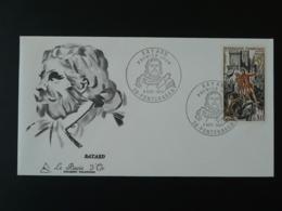 FDC Gravure Burin D'Or Chevalier Bayard Knight Medieval Pontcharra 38 Isère 1969 - 1960-1969