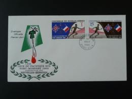 FDC South Pacific Games Nouvelles Hebrides FR 1969 - FDC