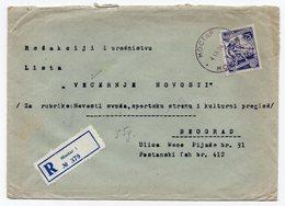 1958 YUGOSLAVIA, BOSNIA, MOSTAR TO BELGRADE, 75 DINARA, REGISTERED COVER - 1945-1992 Socialist Federal Republic Of Yugoslavia