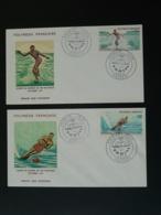 FDC (x2) Coupe Du Monde Ski Nautique Polynésie 1971 - Sci Nautico