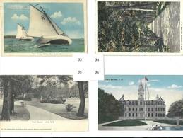 4 POSTCARDS - Yacht Racing, Public Gardens, City Hall- HALIFAX - NOVA SCOTIA - Halifax