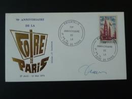 FDC Signée Decaris Foire De Paris 1974 - 1970-1979