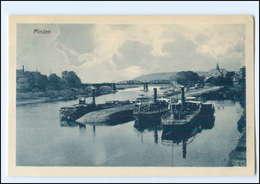 Y15115/ Minden  Ak Weser Schiffe 1907 - Germania