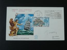 FDC Signée Decaris Musée De L'Atlantique Flamme Concordante Port Louis 56 Morbihan 1976 - Ships