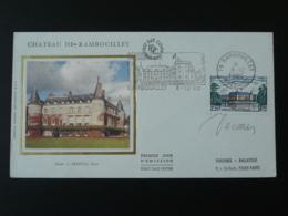 FDC Signée Decaris Chateau De Rambouillet Castle Flamme Concordante 78 Yvelines 1980 - Castles