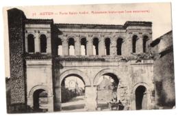 CPA 71 - AUTUN (Saône Et Loire) - 73. Porte Saint-André, Monument Historique (vue Extérieure) - Petite Animation - Autun