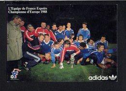 Sport / Football Foot Ball / Equipe De France Espoirs / Championne D'Europe 1988 / Pub ADIDAS - Soccer