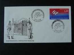FDC Bicentenaire Revolution Française French Revolution Bastille Folon 45 Orléans Loiret 1989 - 1980-1989