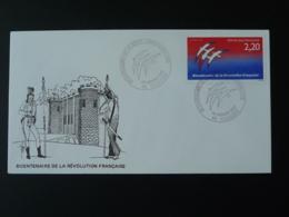 FDC Bicentenaire Revolution Française French Revolution Bastille Folon 46 Cahors Lot 1989 - FDC