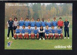 Sport / Football Foot Ball / Equipe De France 1988 89 / Sélectionneur Michel Platini / Pub ADIDAS - Soccer