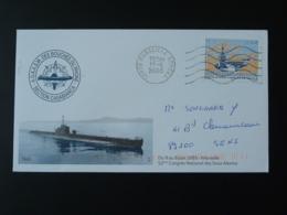 Lettre Cover Congrès National Des Sous-marins Marseille Armées 2003 - Sottomarini