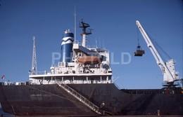 1982 SHIP TANKER PUERTO CEUTA AFRICA ESPANA SPAIN 35mm AMATEUR DIAPOSITIVE SLIDE Not PHOTO No FOTO B4956 - Diapositives