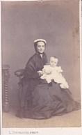 TOURNAI Femme Et Enfants Début Années 1860 Par  L. DUCHATEL Photo CDV - Anciennes (Av. 1900)