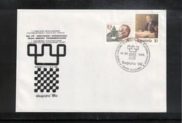 Yugoslavia 1986 Bugojno Chess Tournament Interesting Cover - Schach