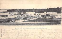 54 - HOMECOURT JOEUF : Quartier De La Gare Et Hotel Des Ouvriers - CPA Village (6.150 Habitants) - Meurthe Et Moselle - Homecourt